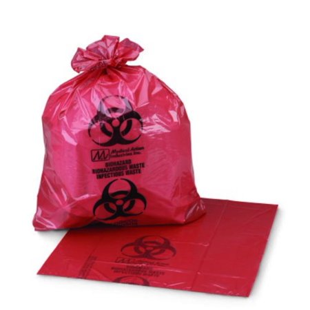 1 Gallon Box (McKesson Infectious Waste Bag 03-5042, 11 x 14 inch, 1 to 6 Gallon, Box of 50, Red/Black )