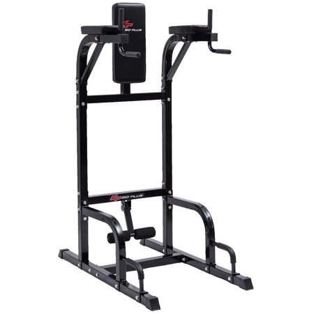 Goplus Vertical Knee Raise Dip Station Chin Up Push Up Stand Power Tower