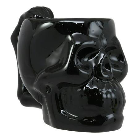 Ebros Ossuary Macabre Ghastly Death Black Skull Drinking Coffee Mug 12oz Tankard Beer Cup Decor Of Skeletons Skulls Spine Bones Skeleton Cranium Cups Mugs Underworld Kitchen And Dining Party](Skeleton Drinking)