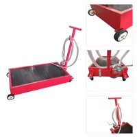 Ktaxon Practical 20 Gallon Low Profile Heavy Duty Truck Car Oil Drain Pan, w/ Pump & Wheels, Red, for Truck Car