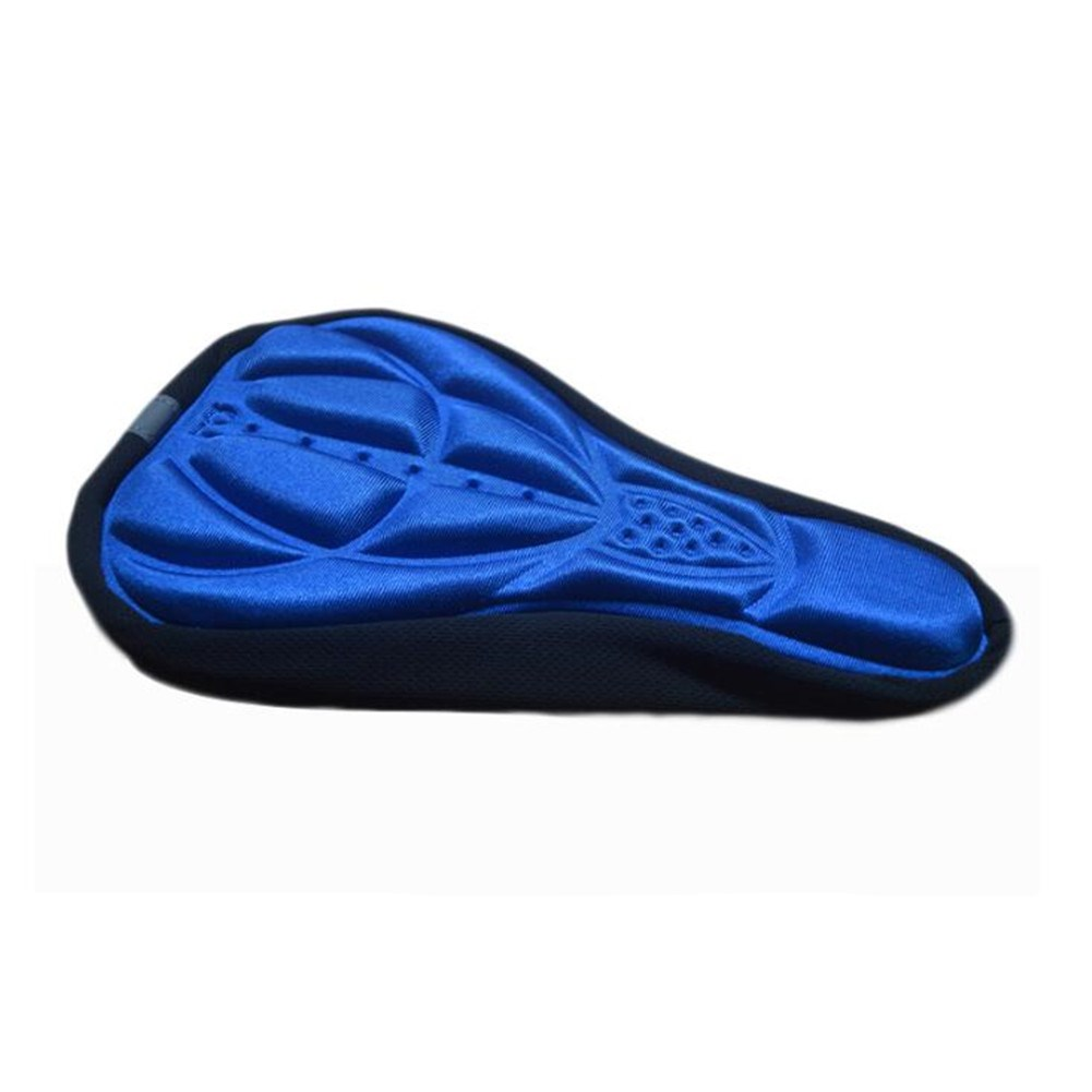 Comfortable 3D Padded Silicone Gel Bike Saddle Cushion Breathable Replacement Seat Cover Color:Red