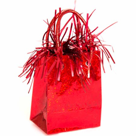 Gift Bag Shaped Balloon Weight, Red, 1ct