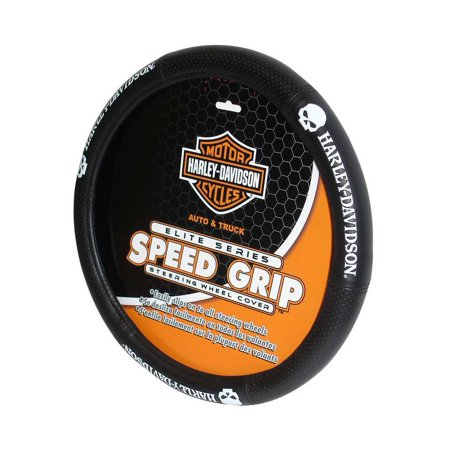 Harley-Davidson Skull Black Speed Grip Style Steering Wheel Cover P6646, Harley Davidson Harley Davidson Steering Wheel Cover
