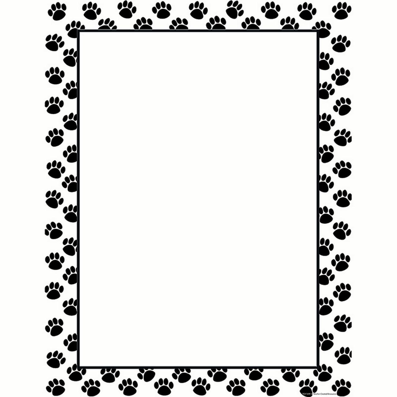 BLACK PAW PRINTS BLANK CHART