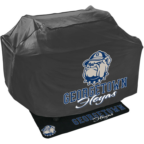 Mr. Bar-B-Q NCAA Grill Cover and Grill Mat Set, University of Georgetown Hoyas