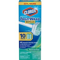 Clorox ToiletWand Disinfecting Refills, Disposable Wand Heads - Rainforest Rush - 10 Count