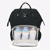 Large Diaper Backpack, Multifunction Waterproof Travel Nappy Bag, Durable Strapes, Mommy Baby Care