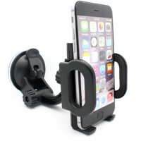 Car Mount Phone Holder Windshield Swivel Cradle Stand Window Glass Dock Strong Suction Multi Angle Rotation Compatible With Samsung Galaxy S10 Halo