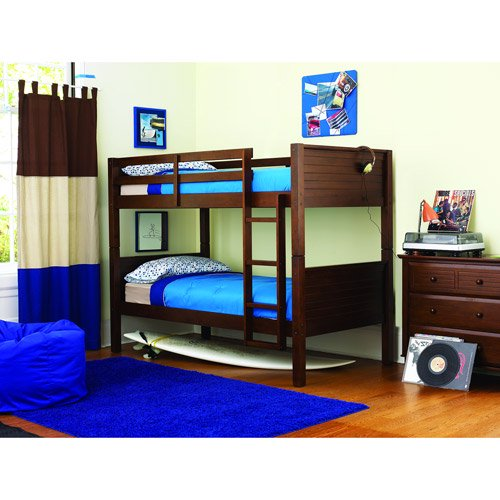 Dorel Home Your Zone Zzz Place To Be Bunk Bed Walnut Twin
