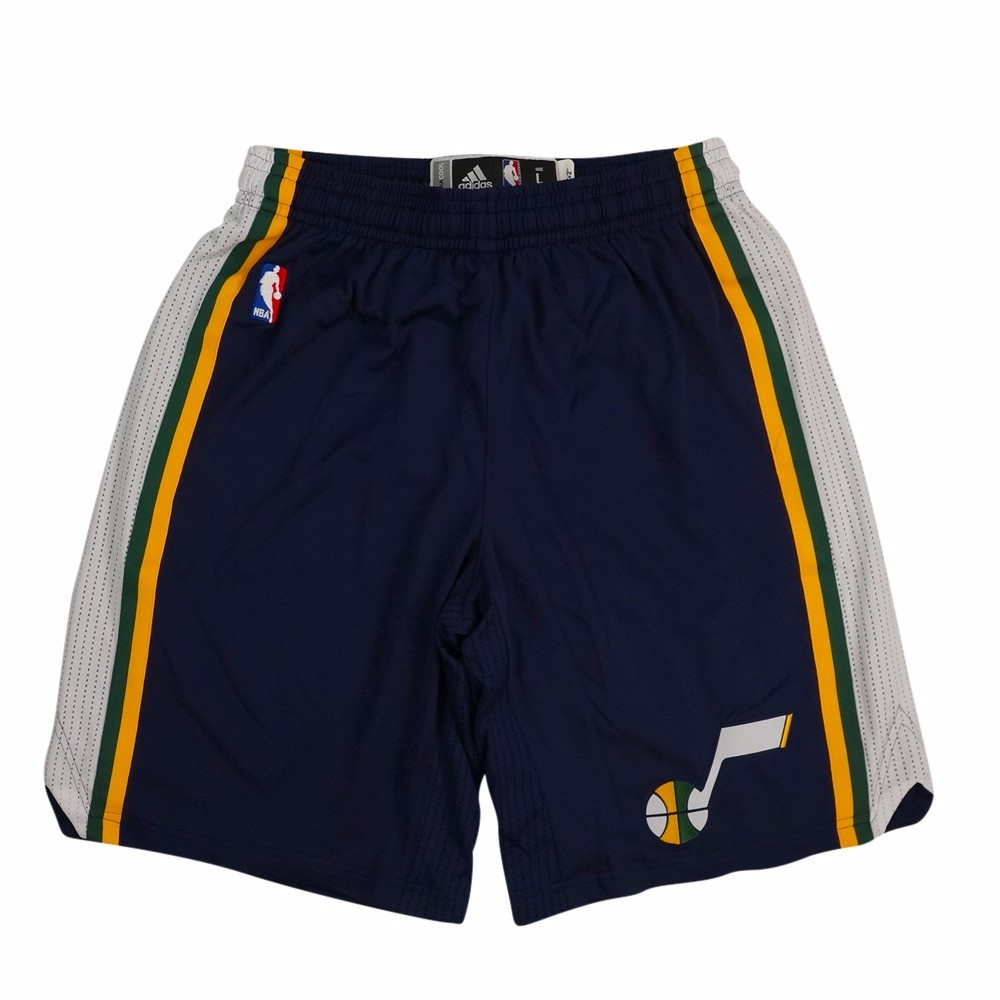 Utah Jazz NBA Adidas Navy Authentic On-Court Climacool Team Game Shorts For Men