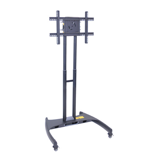 Luxor Adjustable Height TV Stand and Mount, Black by Luxor