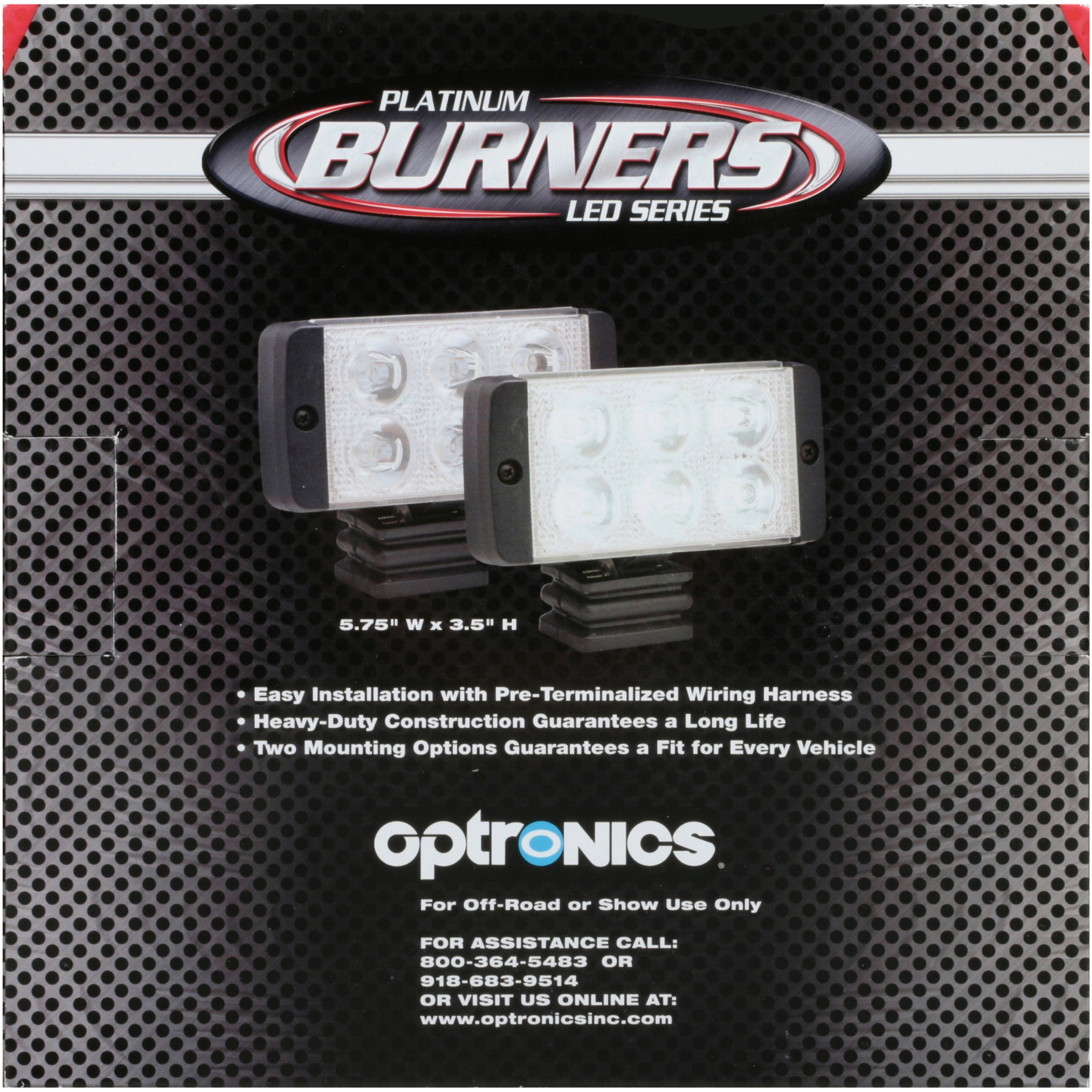 Optronics Platinum Burners Led Series White Racing Lights Wiring