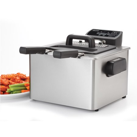 Aroma Smartfry Xl 4 Quart Digital Deep Fryer  Stainless Steel