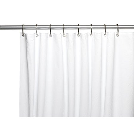 Royal Bath Extra Heavy 10 Gauge PEVA Non Toxic Shower Curtain Liner With Metal Grommets