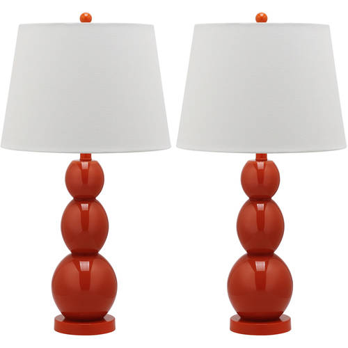 Safavieh Jayne 3 Sphere Glass Lamp with CFL Bulb, Multiple Colors, Set of 2