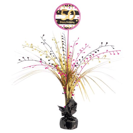 Pink & Gold 50th Birthday Spray Centerpiece (1)](50th Centerpieces)