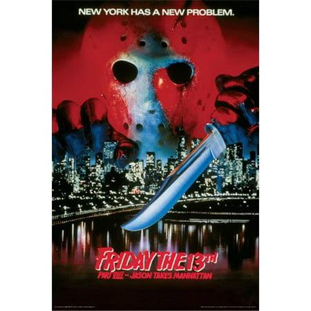 Friday The 13Th Movie Poster Jason Takes Manhattan New 24x36