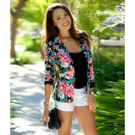 Womens Fashion One Button Slim Casual Business Blazer Suit Jacket Coat Outwear