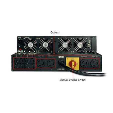 Tripp Lite UPS Smart Online 6000VA 4200W Rackmount 6kVA 208/240/120V USB DB9 Manual Bypass Hot Swap 4U - 6000VA/4200W
