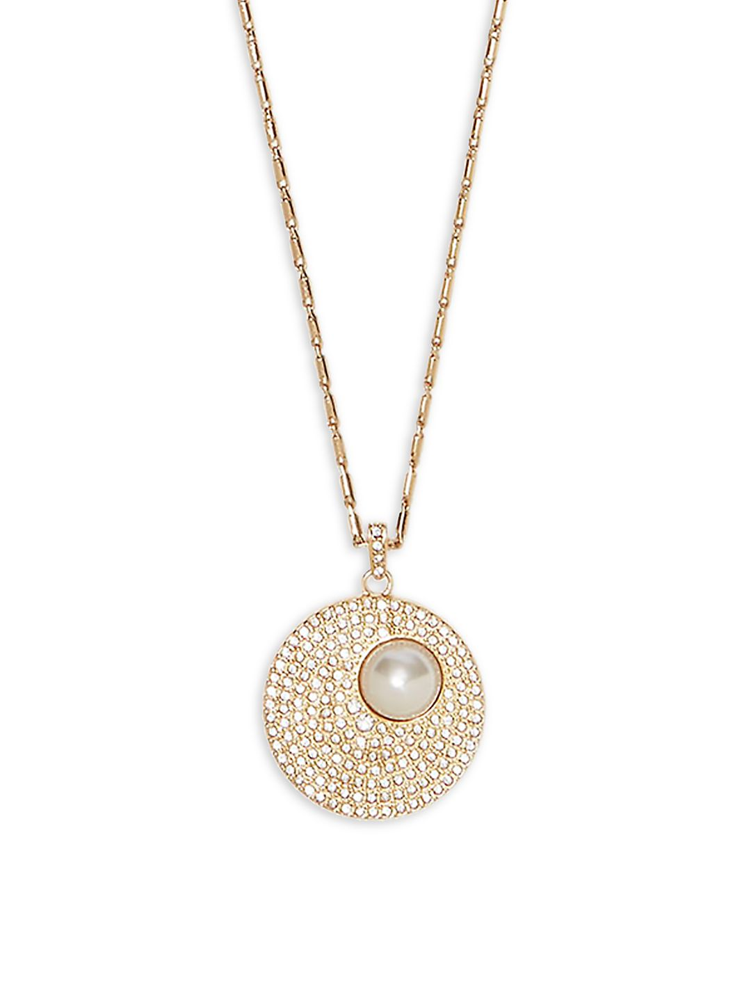 Daytime Capsule Faux Pearl & Crystal Pendant Necklace