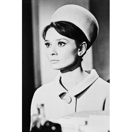 Audrey Hepburn Charade Coat & Hat 24x36 (Audrey Coat)