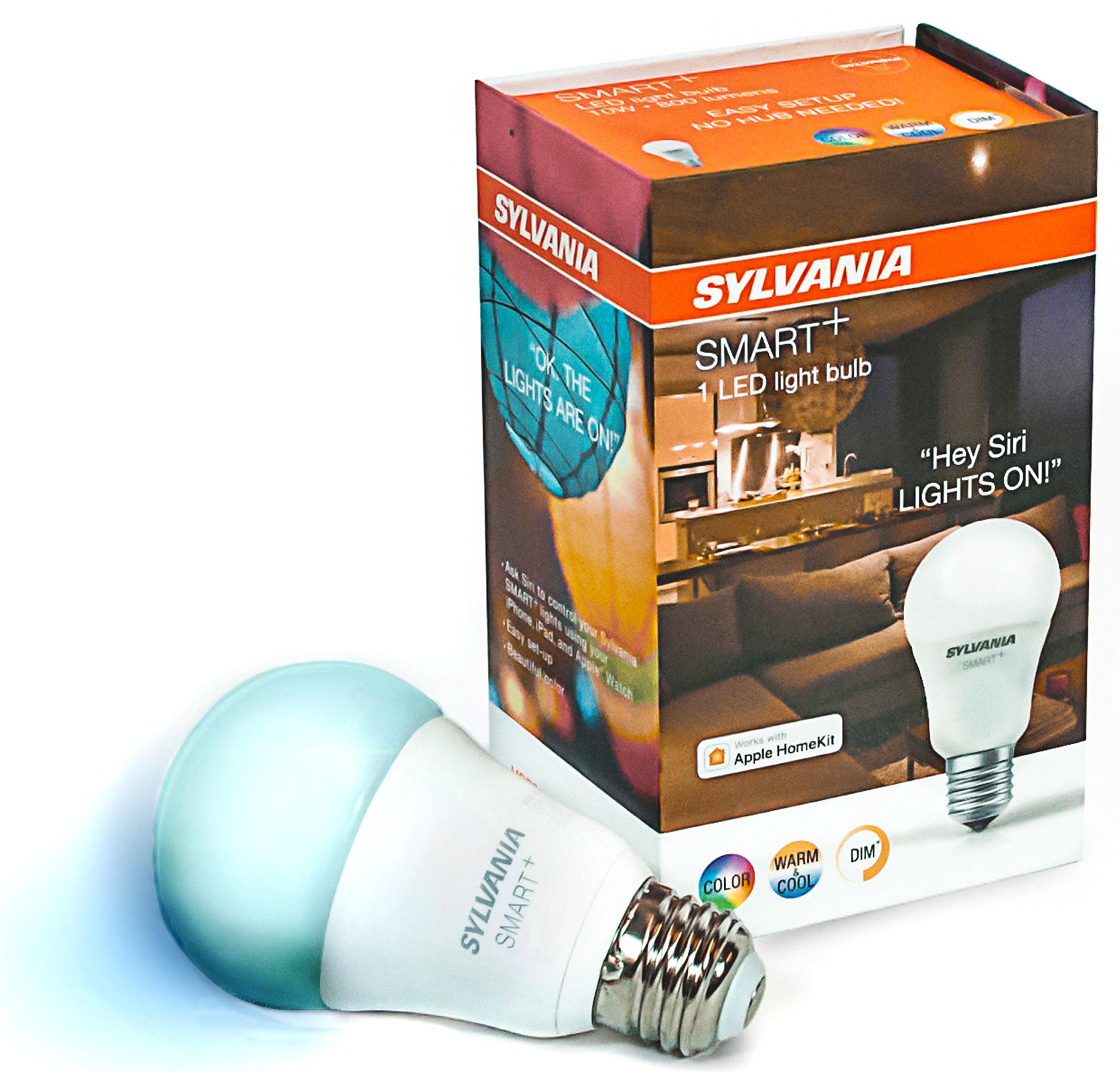 Sylvania SMART+ A19 Smart Light Bulb, 60W Color LED, 1-Pack