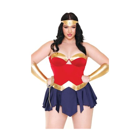 Plus Size Wonderbae Superhero Lingerie Costume
