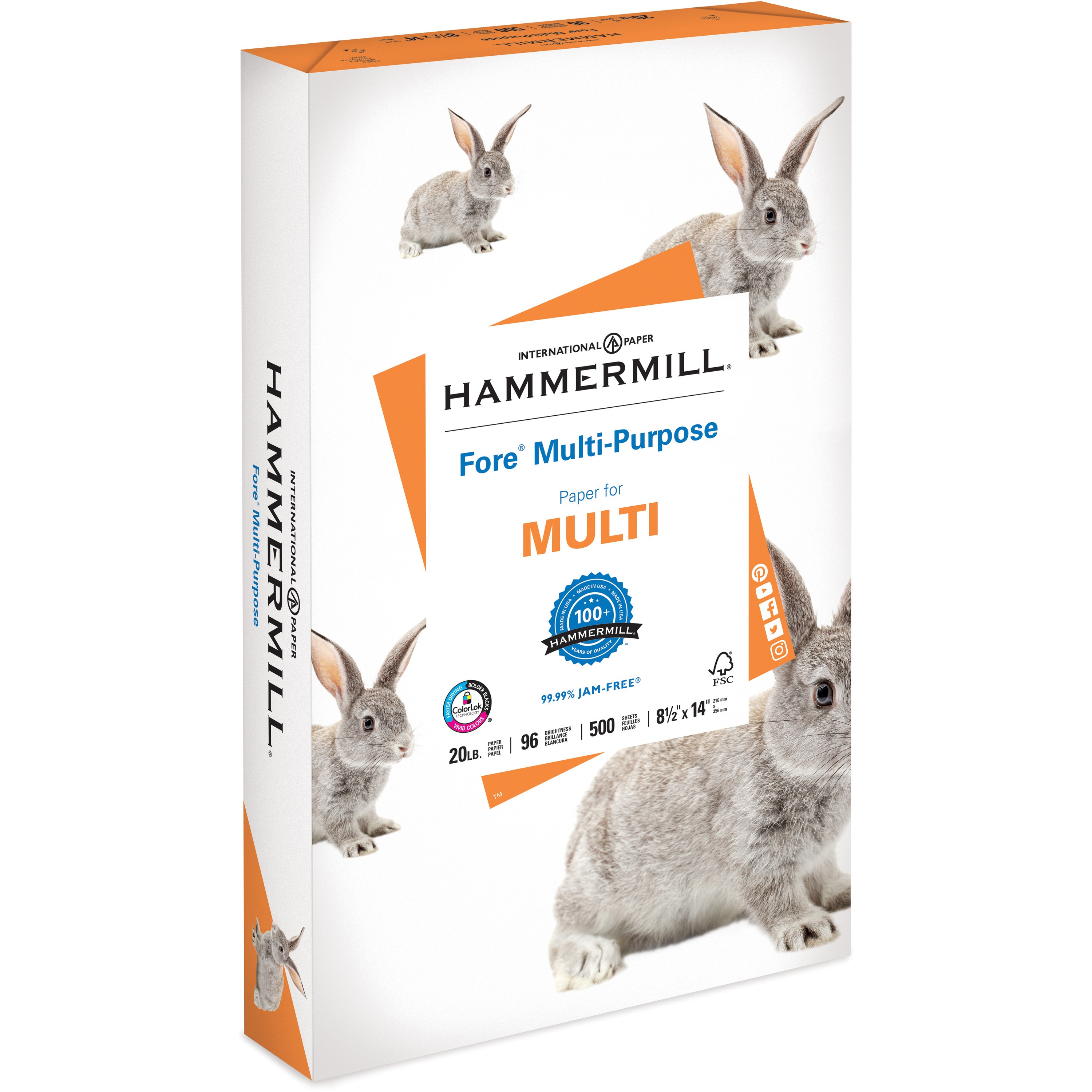 Hammermill, HAM103291, Fore MP White Paper, 500 / Ream, White