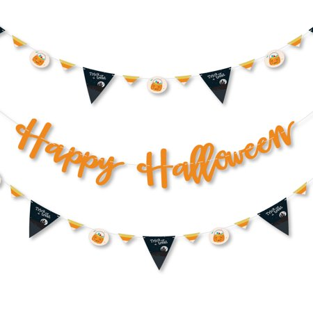 Trick or Treat - Halloween Party Letter Banner Decoration - 36 Banner Cutouts and Happy Halloween Banner Letters - Happy Halloween Day Trick Or Treat