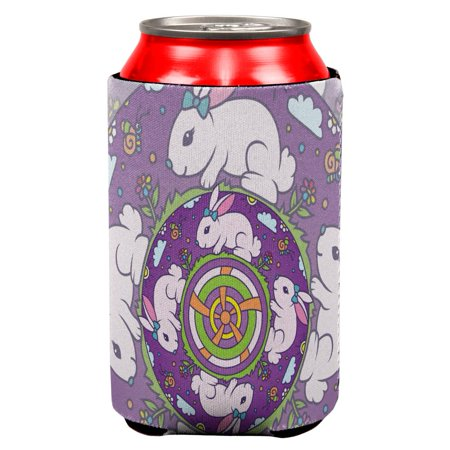 Mandala Trippy Stained Glass Easter Bunny All Over Can Cooler