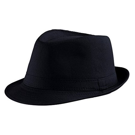 Dress Up America Black Fedora Hat - Fendora Hats