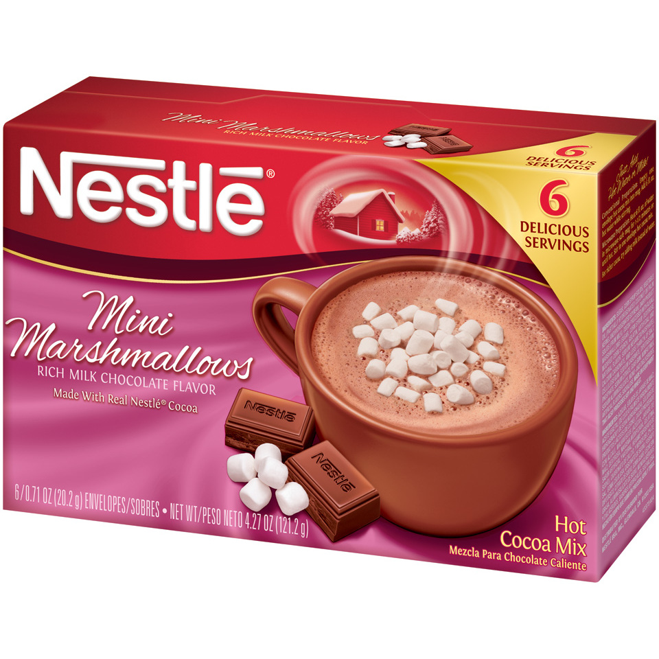 NESTLE HOT COCOA Mix Mini Marshmallows Flavor 6-0.71 oz. Packets ...