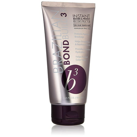 Brazilian BondBuild3r B3 Instant Restore & Protect Reconstructor Treatment for Unisex, 6 (Hydrating Reconstructor)
