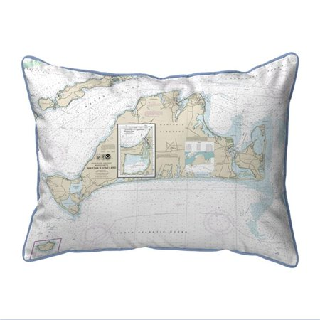 Betsy Drake ZP13233 20 x 24 in. Marthas Vineyard, MA Nautical Map Extra Large Zippered Indoor & Outdoor (Halloween Parties Martha's Vineyard)