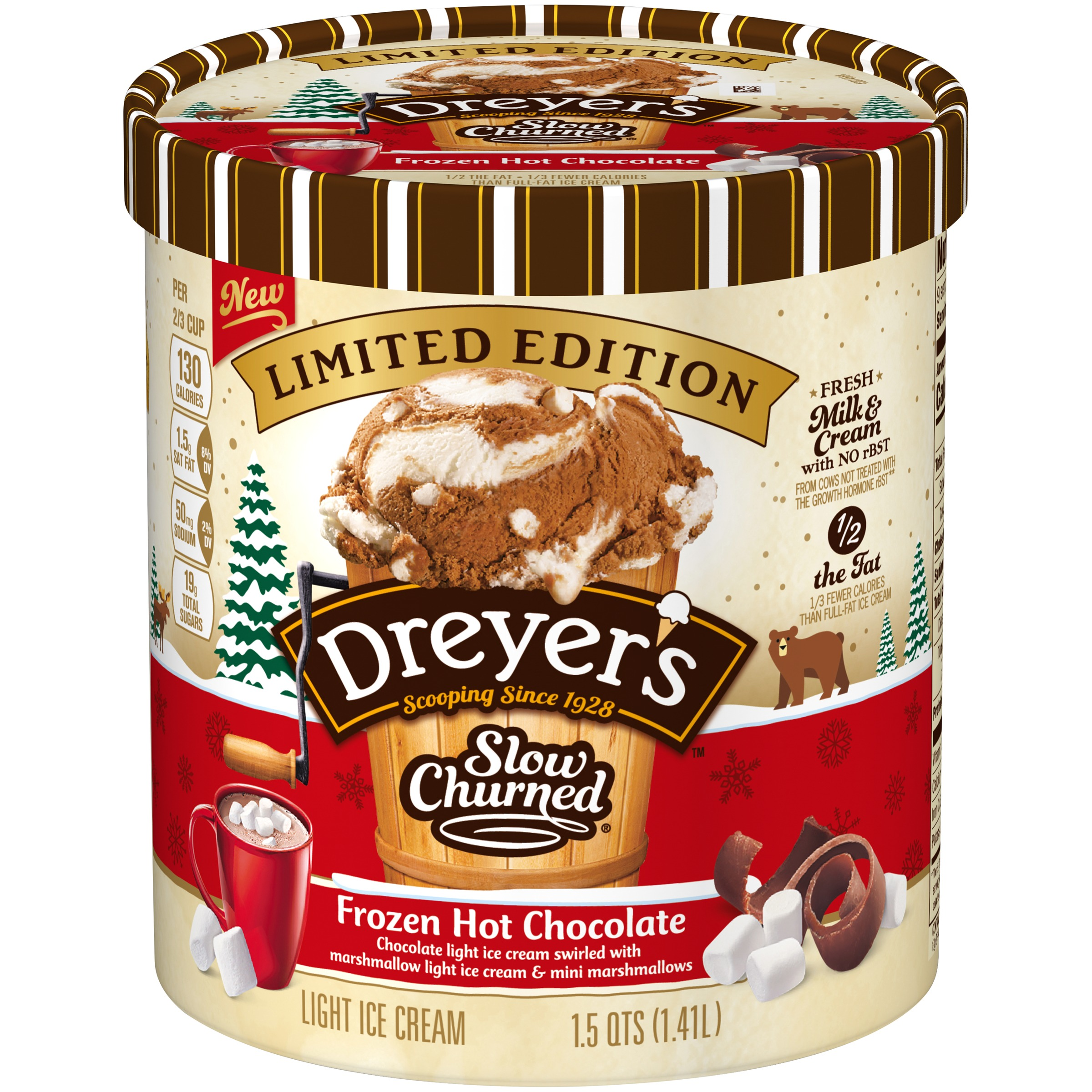 EDY S DREYER S SLOW CHURNED Limited Edition Light Ice Cream 48 fl