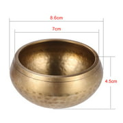 Muslady Exquisite 3 Inch Handmade Tibetan Bell Metal Singing Bowl with for Buddhism Buddhist Meditation Healing Relaxation Yoga