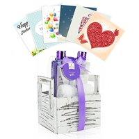 Pinkleaf Lavender Coconut Oil Spa Gift Set, Spa Basket, In Natural Wooden Box