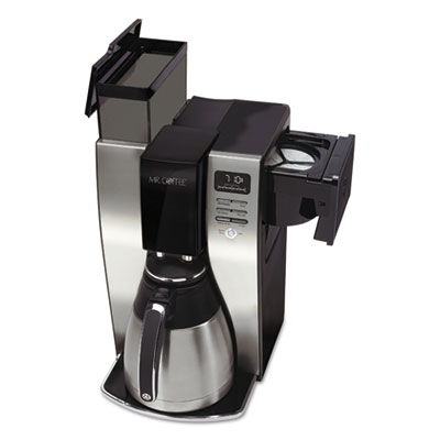Optimal Brew 10-Cup Thermal Programmable Coffeemaker, Black/Brushed Silver, Sold as 1 Each