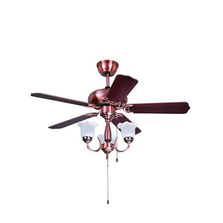 3 lights traditional style red copper ceiling fan walmart 3 lights traditional style red copper ceiling fan aloadofball Image collections