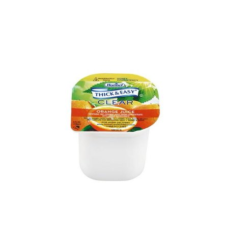 Thick & Easy Clear Thickened Orange Juice, Honey Consistency, 4 Ounce (Case of 24)