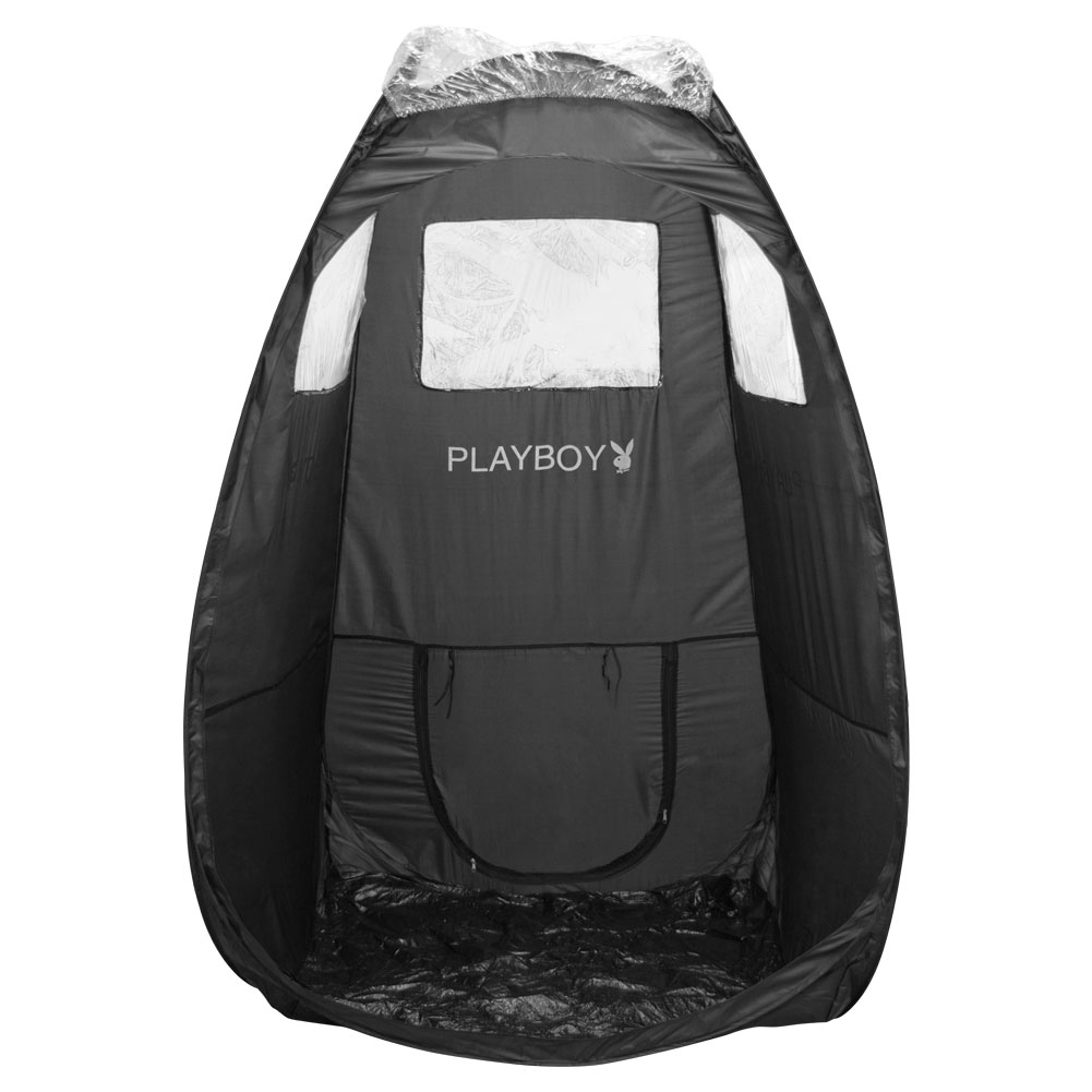 Playboy Portable Pop Up Tent for Airbrush Sunless Spray Tanning Mobile, BLACK