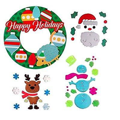 Christmas Classroom Decorations 3d Paper Wreath For Bulletin Board Or Door And Gel Window Cling