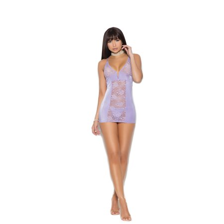 Satin and Lace Babydoll and G-String