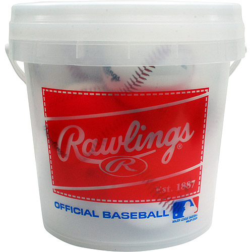 Rawlings Baseball 8U Eight-Pack Bucket of Baseballs OLB3BUCK8