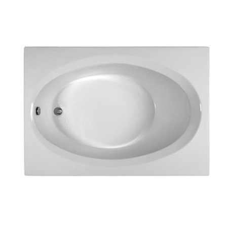 Reliance Baths R6042EROS-B Rectangular 60 x 42 in. Soaking Bathtub With End Drain, Biscuit (6042 Bathtub)
