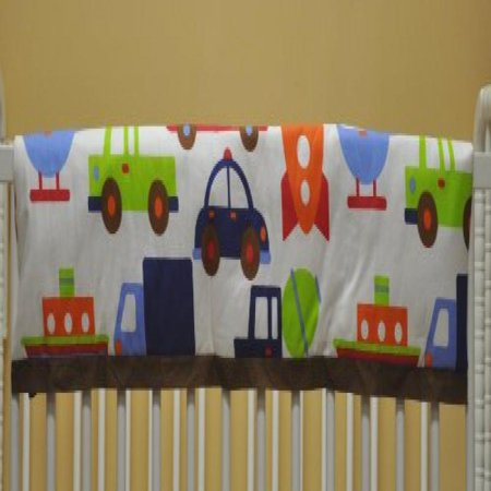 Rail Transportation Set - Transportation Blue Crib Rail Protector