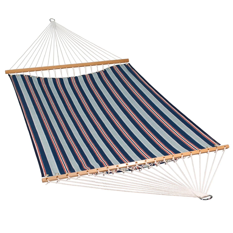 """82"""" x 55"""" Blue Stripe Patterned Kingston Hammock"""