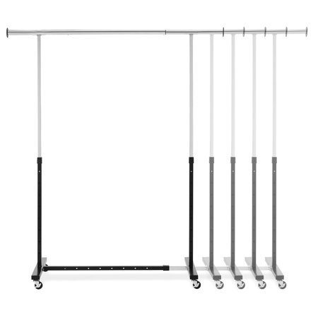 Whitmor Adjustable Rolling Heavy-Duty Expandable Garment Rack