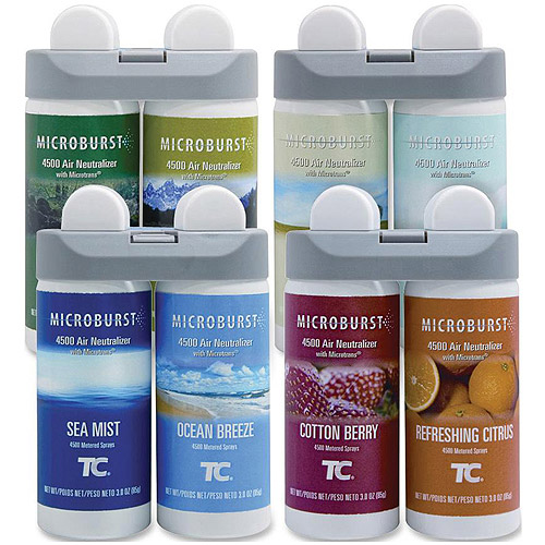 Rubbermaid Microburst 4500 Air Neutralizer Duet Fragrance Refill Variety Pack, 24 oz, 8 pack
