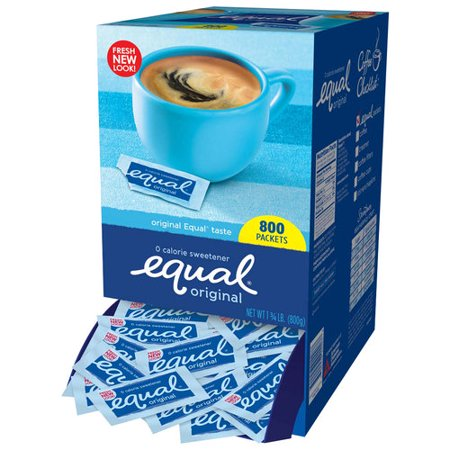 Equal Coffee and Tea Sweetener Sugar Free Sweetener with No Calories Artificial Sugar Replacement Sweetener, 800ct